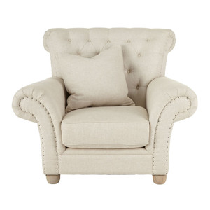 Dorothy Ivory Tufted-Back Chair