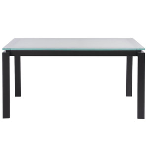 Parsons Glass Top/ Dark Bronze Base Dining Table 60""