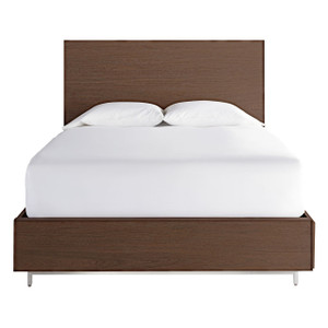 Urban Modern Walnut King Bed Frame