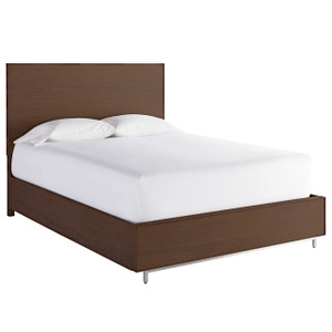 Urban Modern Walnut Queen Platform Storage Bed Frame