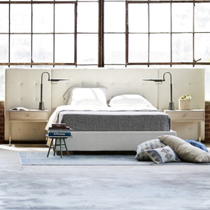 Brooklyn Extended Panel Box-Tufted King Upholstered Bed