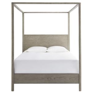 Gabby Modern Oak Queen Canopy Bed
