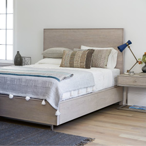 Urban Modern Mist Gray King Platform Storage Bed Frame