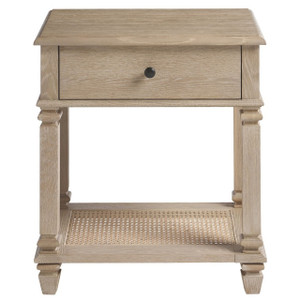 Antibes Oak Wood 1 Drawer Nightstand