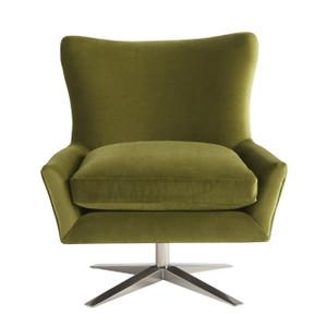 Everette Accent Chair - Sapphire Velvet Spring