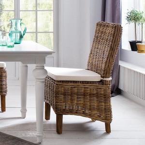 Mai Coastal Wicker Dining Chair with Cushion