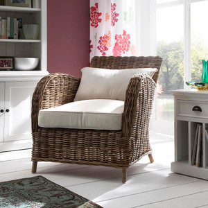 Kelly Coastal Rattan Accent Chair