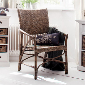Arrow Coastal Wicker Woven Accent Chair