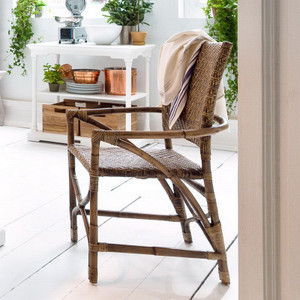 Lola Coastal Wicker Woven Arm Chair