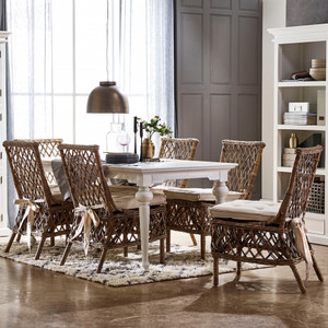 Alina Coastal Rattan Dining Side Chair