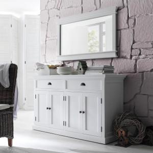 "Coastal French White 4 Door Buffet Sideboard 57"""
