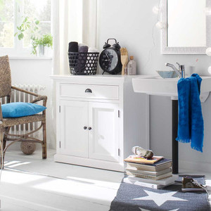 Coastal French White 2 Door Small Sideboard