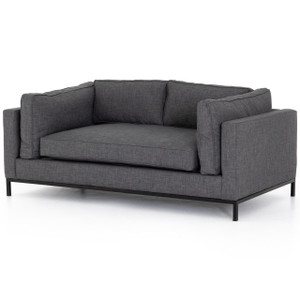 Grammercy Modern Charcoal Small Sofa 72""