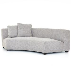 """Liam Modern Grey Curved Sofa 106"""""""