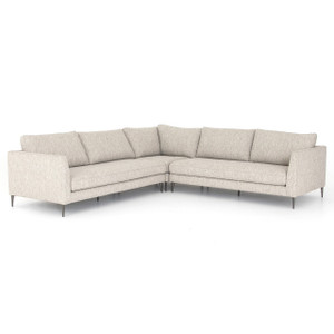 Kailor Modern Neutral Fabric Corner Sectional Sofa