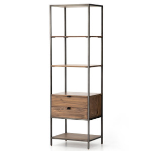 Fulton Industrial Modular Open + Closed Bookshelf 24""