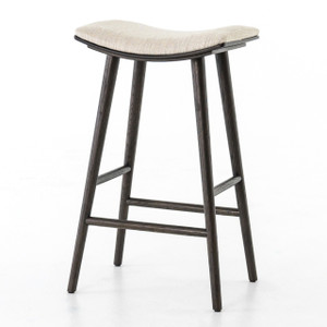 Saddle Mid-Century Oak Bar Stool