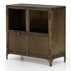 Element Industrial Antiqued Brass Small Sideboard