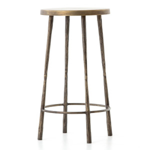 Westwood Industrial Antiqued Brass Counter Stools