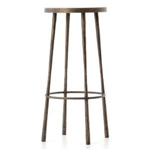 Westwood Industrial Antiqued Brass Bar Stools