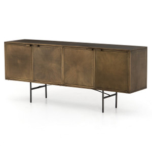 Sunburst Industrial Aged Brass Sideboard 72""