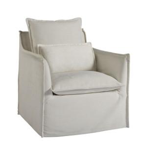Coastal Living Siesta Key Slipcovered Swivel Chair