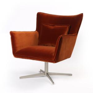 Jacob Velvet Swivel Wing Chair