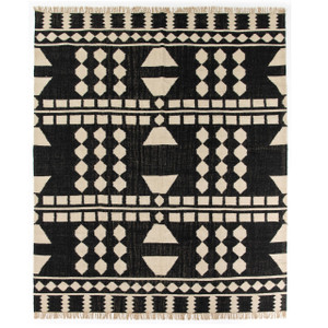 Argus Tribal Dhurrie Geometric Block Pattern Area Rug