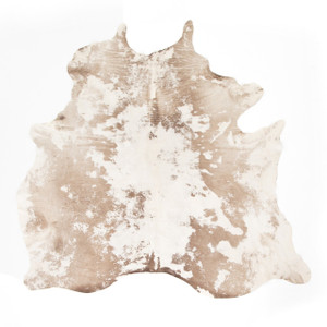 Modern Warm Brown Cowhide Rug