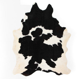 Modern Black And White Cowhide Rug