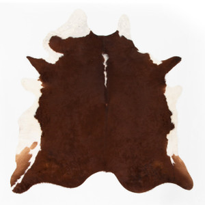 Modern Brown And White Cowhide Rug