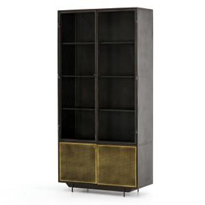 Hendrick Industrial Mesh 4 Door Tall Display Cabinet