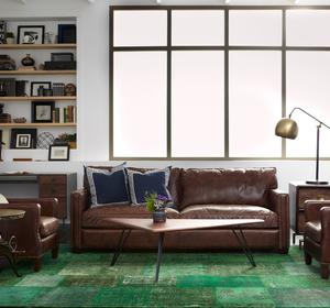 Larkin 3 Seater Vintage Cigar Distressed Leather Sofa