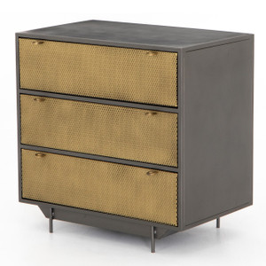 Hendrick Industrial Mesh 3-Drawer Small Dresser