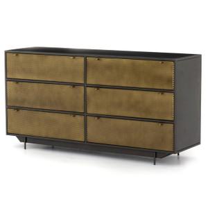 Hendrick Industrial Mesh 6-Drawer Dresser