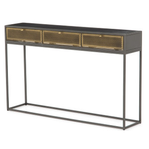 Hendrick Industrial Mesh 3 Drawer Console Table