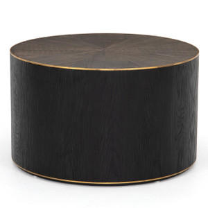 Perry Reclaimed Oak Round Drum Coffee Table 26""