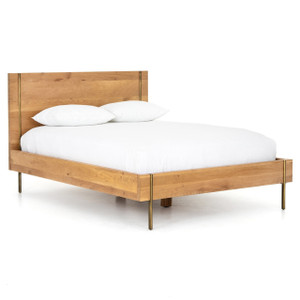 Carlisle Danish Modern Oak King Platform Bed