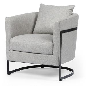 Liam Modern Grey Curved Club Chair