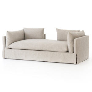 Loft Modern Beige Chaise Daybed Lounger 88""