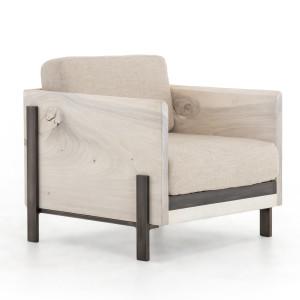 Woodrow Live Edge Wood Living Room Armchair