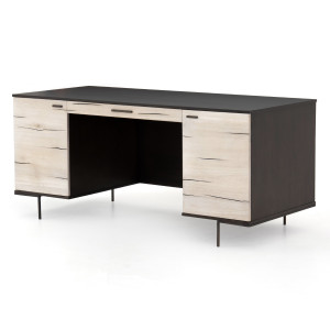 Cuzco Whitewash Yukas Wood Executive Office Desk