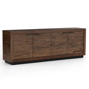 Couric Spalted Alder Wood 4 Door Large Sideboard 94""