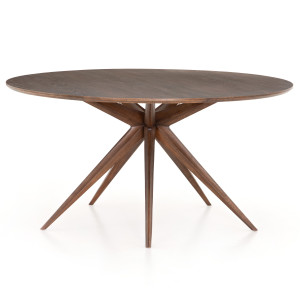 Hewitt Star Base Mid Century Modern Round Dining Table 59""