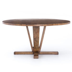 Cobain Reclaimed Wood Round Dining Table 60""