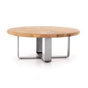 """Skate Oak Wood + Metal Round Coffee Table 42"""""""