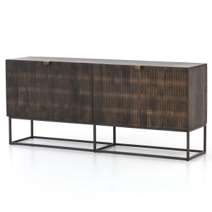 Kelby Wood and Iron Sideboard Console 69""