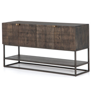 """Kelby Wood and Iron Media Console 56"""""""