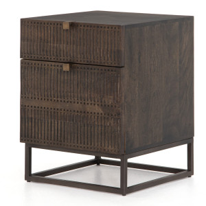 Kelby Wood and Iron 2 Drawer Filing Cabinet