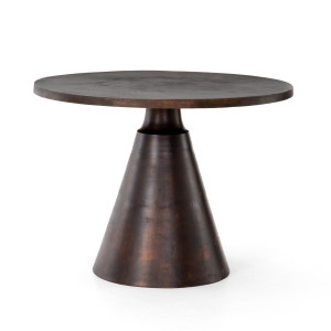 "Mina Antique Rust Round Bistro Table 41"""